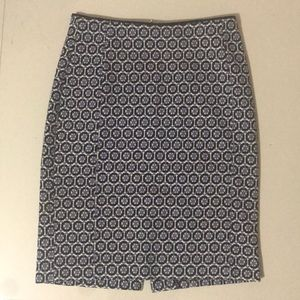 H&M Blue Printed Skirt ~ SIZE 2